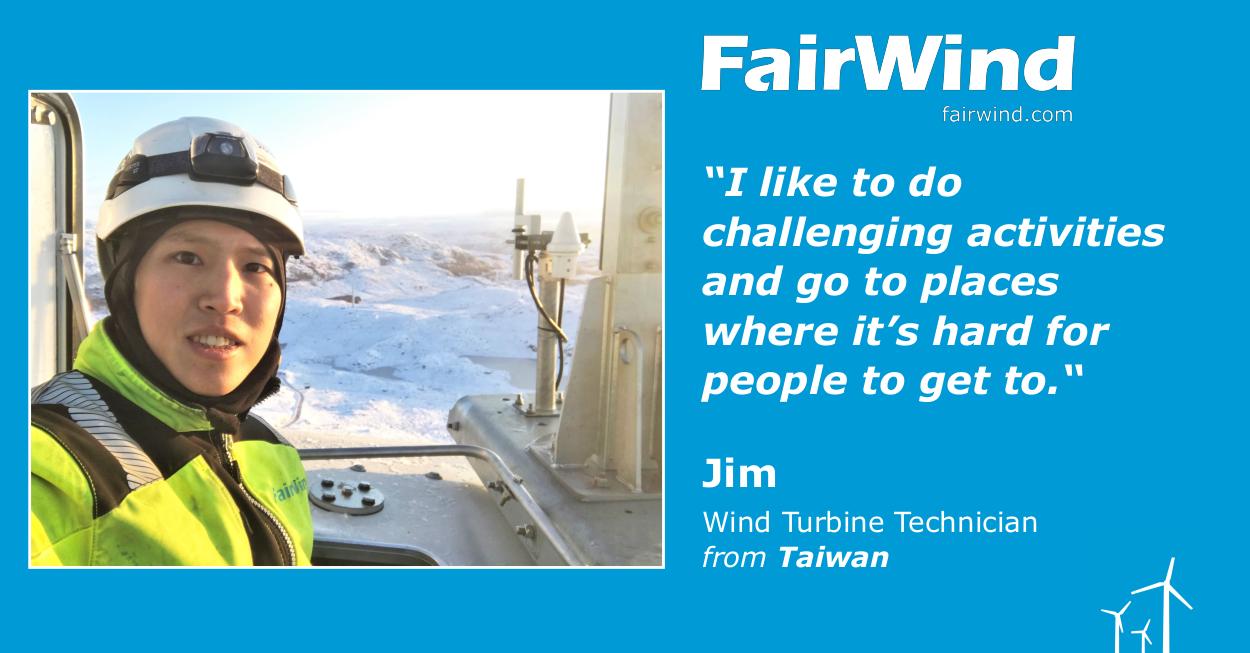 FairWinder: Jim from Taiwan